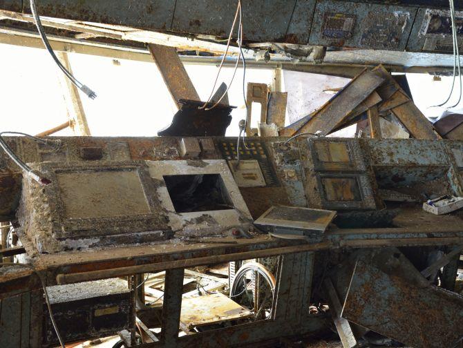PHOTOS: Inside the sunken Costa Concordia - Rediff.com News