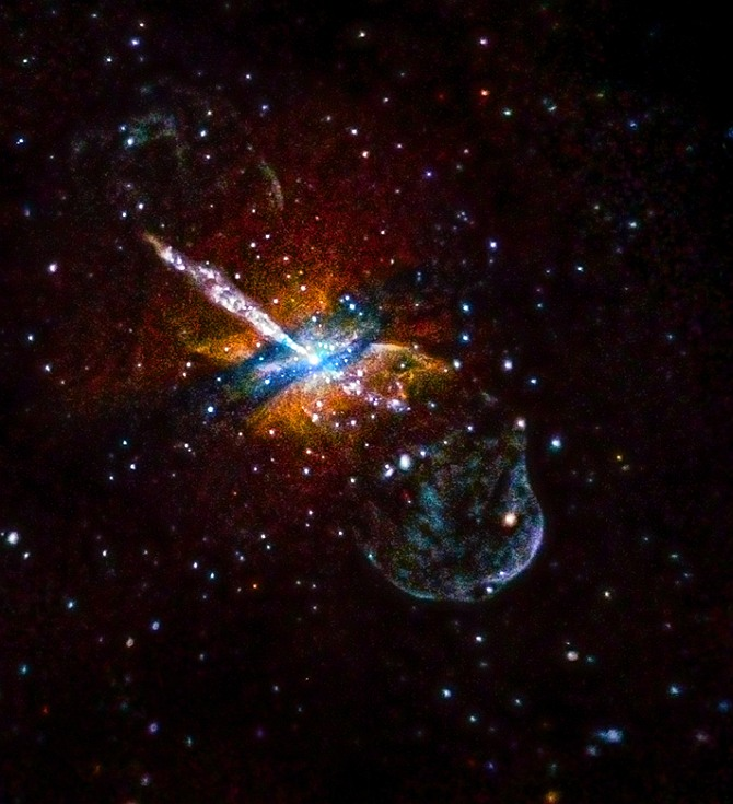 Just weeks after NASA's Chandra X-ray Observatory began operations in 1999, the telescope pointed at Centaurus A (Cen A, for short). This galaxy, at a distance of about 12 million light years from Earth, contains a gargantuan jet blasting away from a central supermassive black hole. Since then, Chandra has returned its attention to this galaxy, each time gathering more data. And, like an old family photo that has been digitally restored, new processing techniques are providing astronomers with a new look at this old galactic friend.