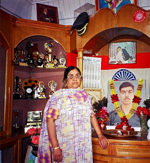Lieutenant Saurabh Kalia's mother, seen here in 2004. Other photographs: Kind courtesy: The Kalia family