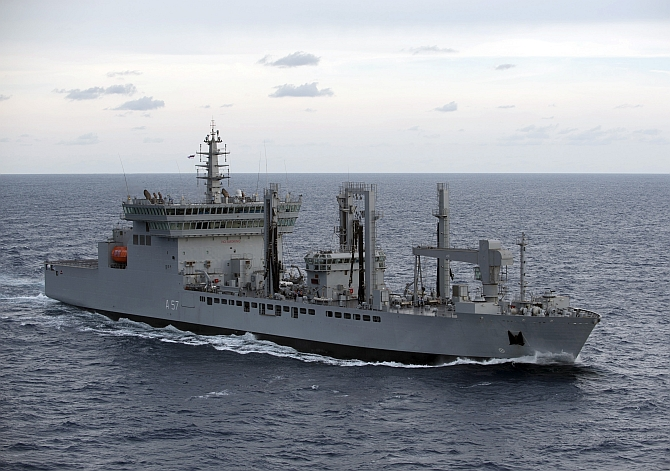 INS Shivalik during a naval exercise