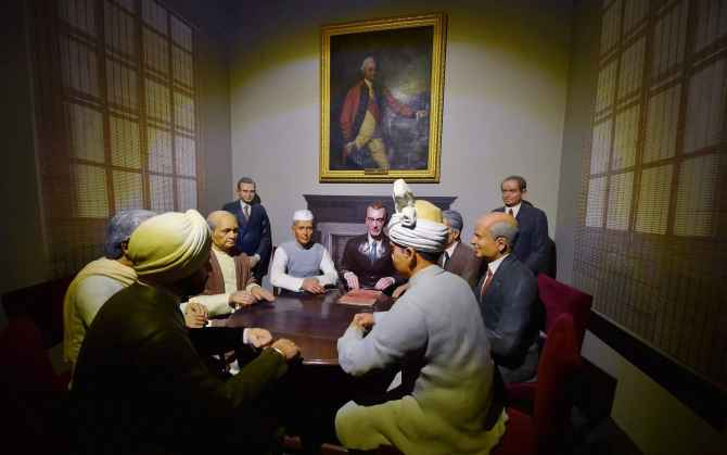 A tableau of Shimla Agreement at the Rashtrapati Bhavan Museum