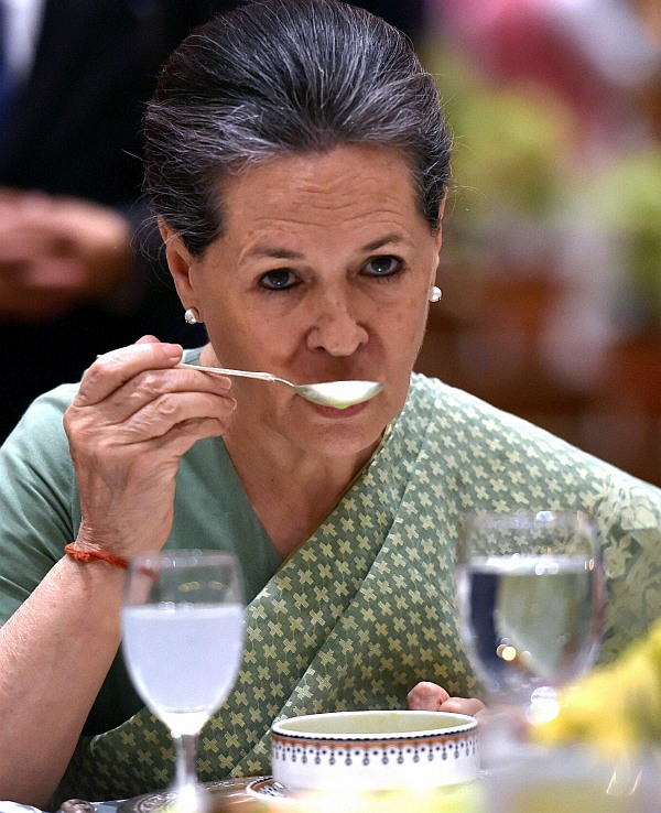 President Sonia Gandhi during her Iftar party in New Delhi
