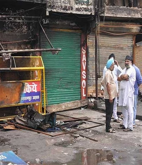 Shops damaged in the violence remain shut even as the situation in Saharanpur is under control