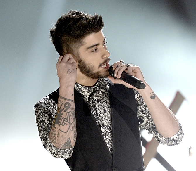 Singer Zayn Malik of One Direction during an award function in Los Angeles