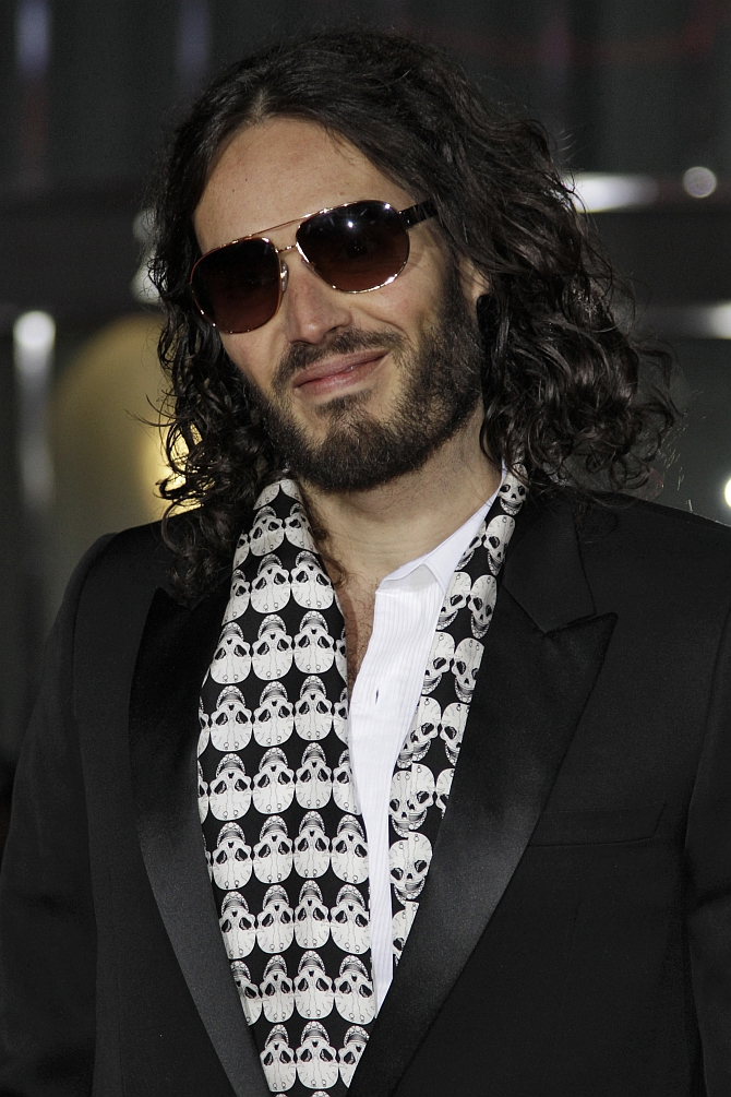 Actor Russell Brand arrives for a premiere in Hollywood, California