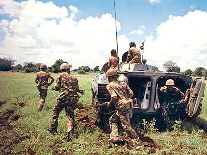 IPKF forces in action in Sri Lanka