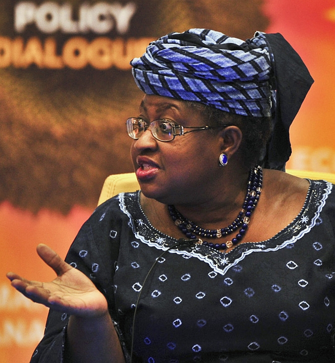 Ngozi Okonjo-Iweala at a conference in Abuja