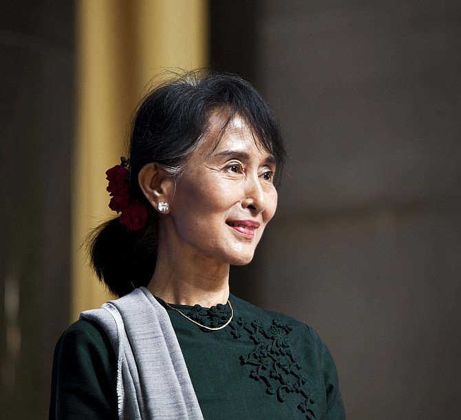 Aung San Suu Kyi in New York