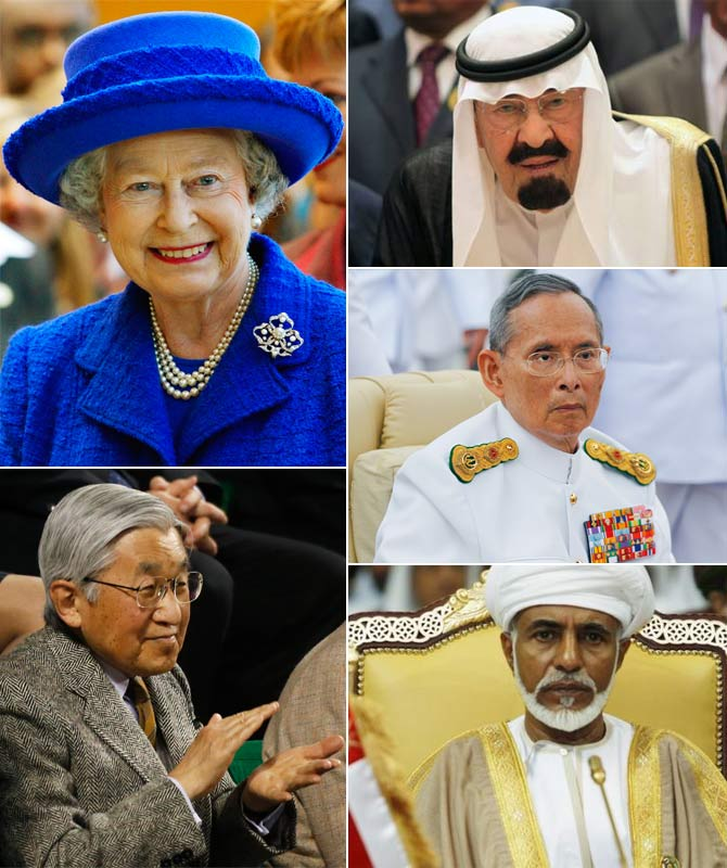 10 powerful monarchs who command respect