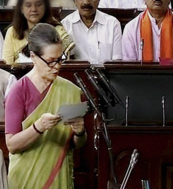 Congress chief Sonia Gandhi takes oath