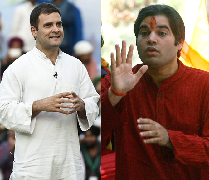 Rahul Gandhi (Congress) and Varun Gandhi (BJP)