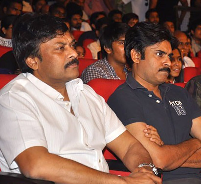 Pawan Kalyan (Jana Sena) and Chiranjeevi (Congress)