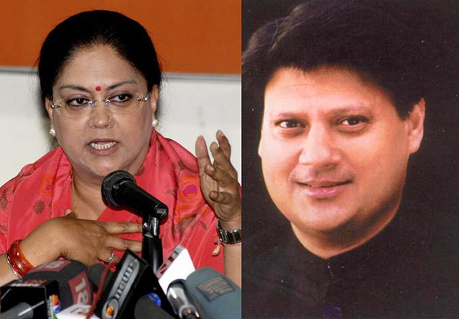 Madhavrao Scindia (Congress) and Vasundhara Raje (BJP)