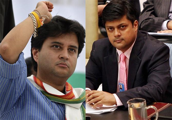 Jyotiraditya Scindia (Congress) and Dushyant Singh (BJP)