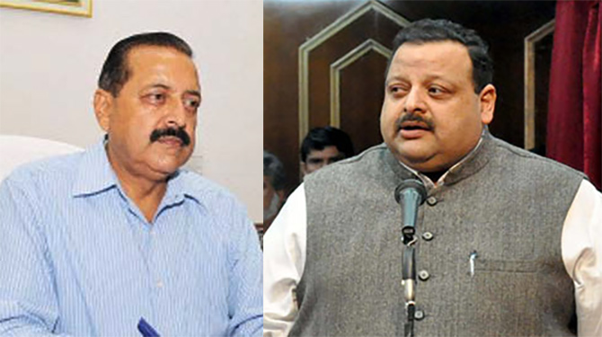 Jitendra Singh (BJP) and Devendra Rana (National Conference)