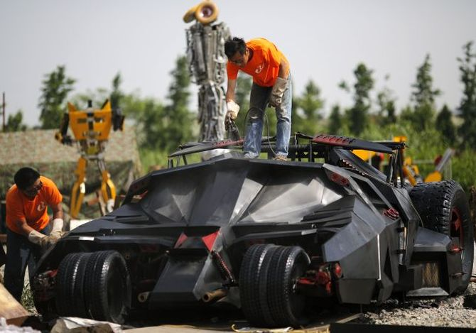 Batmobile lands up in China