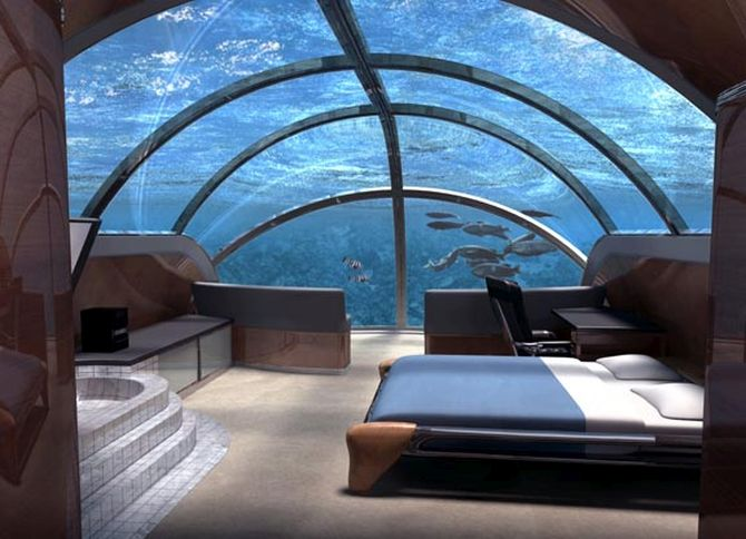 This hotel allows you to sleep with the fish