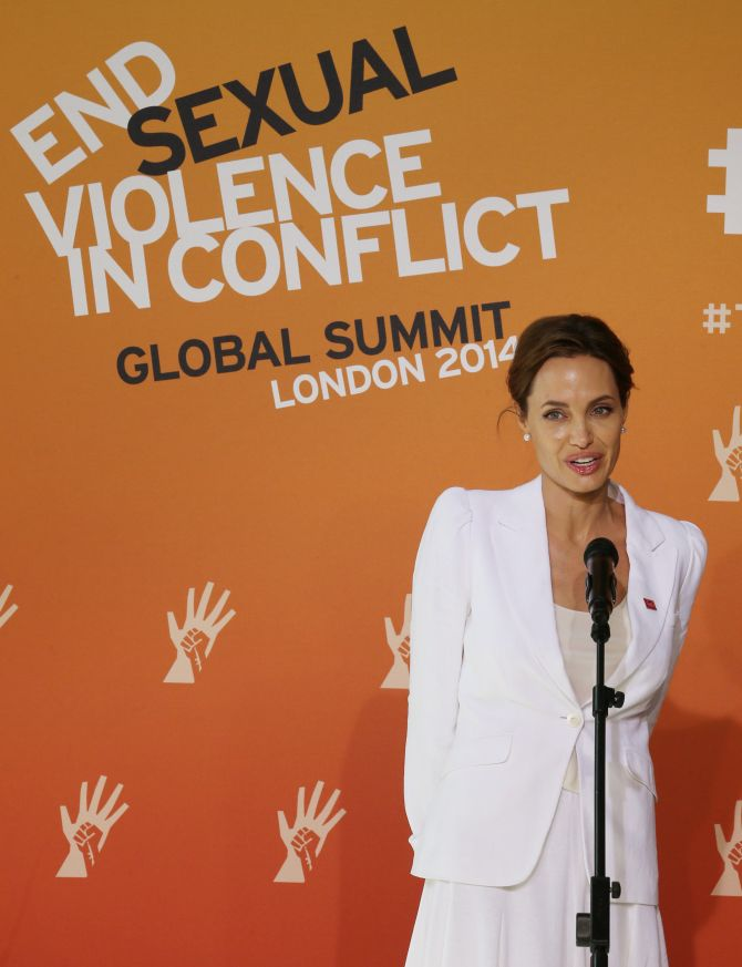 The four-day conference on sexual violence in war is hosted by Foreign Secretary William Hague and Angelina Jolie