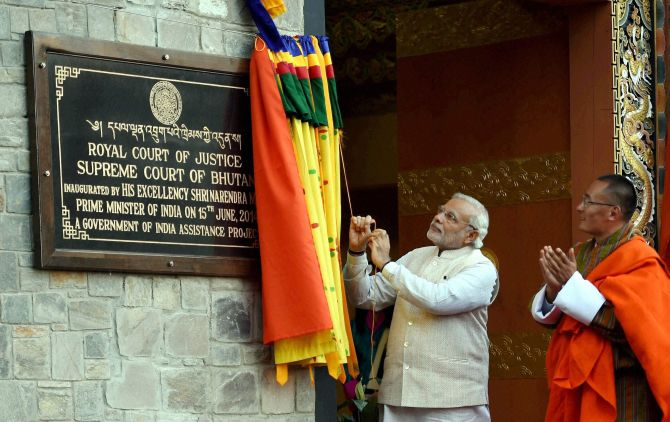 Prime Minister Modi inaugurates the Supreme Court in Thimphu