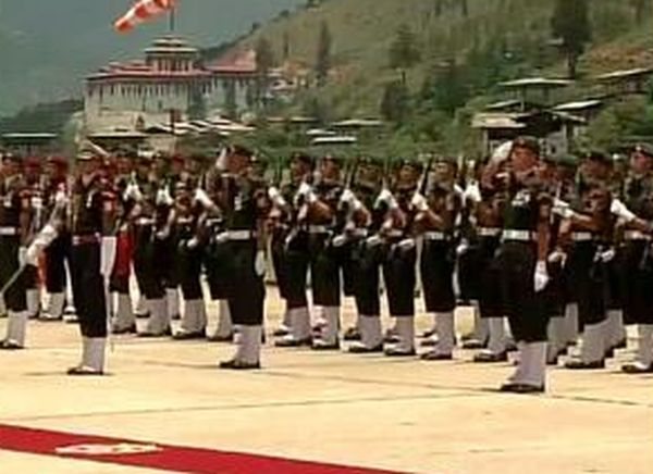 PM Narendra Modi was welcomed with a guard of honour.