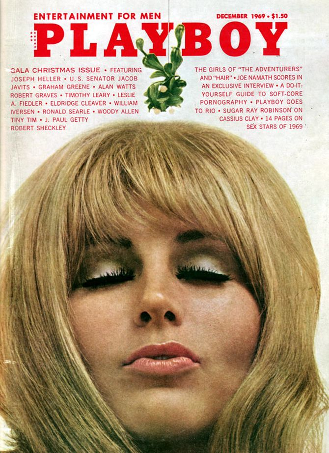 The cover of the December 1969 Playboy mag