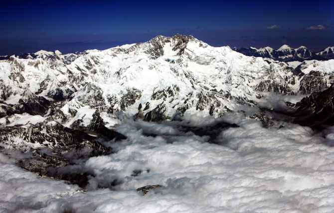 Mount Kanchenjunga, situated on the India-Nepal border