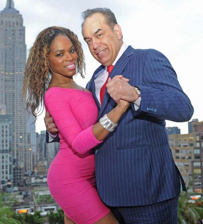 Carla Abonia with her sugar daddy Alan Schneider