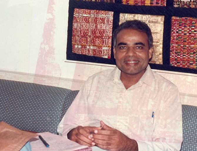 A young Narendra Modi at his office