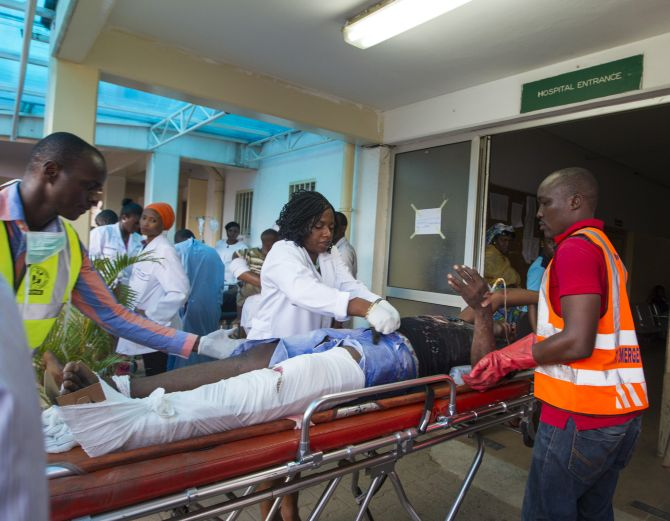 The injured were rushed to hospital for treatment as they sustained severe injuries owing to the explosion