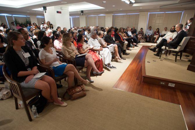 Sri Sri Ravi Shankar speaks on 'A Conversation about Human Flourishing' at the American Enterprise Institute