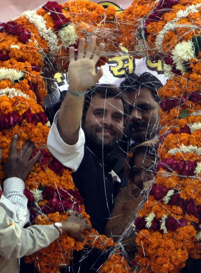 Rahul Gandhi campaigning during the Lok Sabha elections