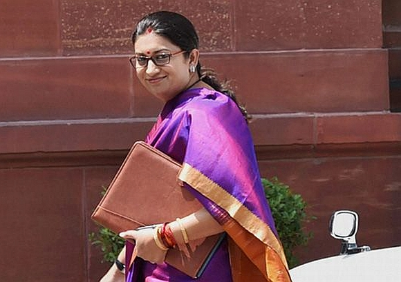 Human Resource Development Minister Smirti Irani in New Delhi
