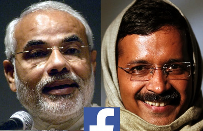 Narendra Modi and Arvind Kejriwal
