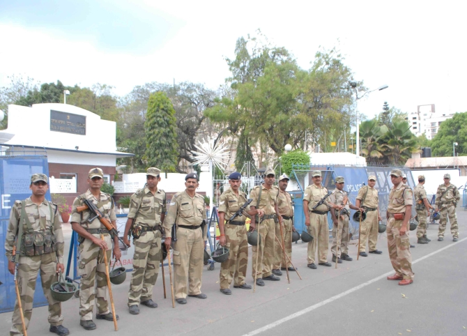 Heavy secuirty has been deployed in Hyderabad, Andhra Pradesh. A President's rule has been imposed in the state after its bifurcation, which was backed by the Congress