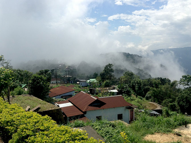 Laitkynsew village, Cherrapunjee, where Denis Ryen lives with his family.