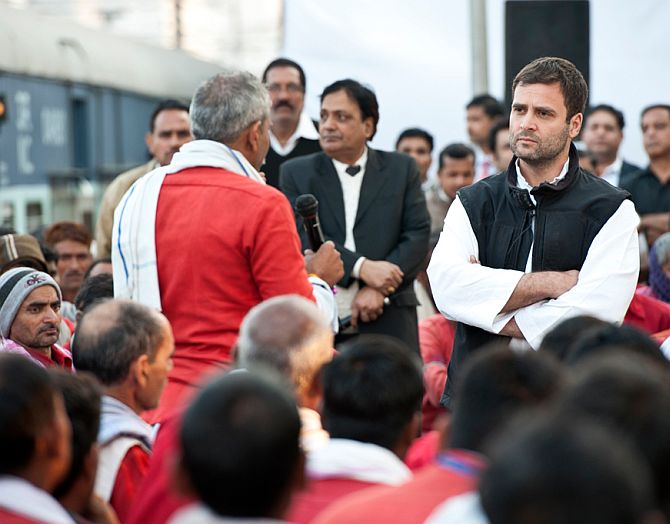 Rahul interacting with porters at a station in Varanasi