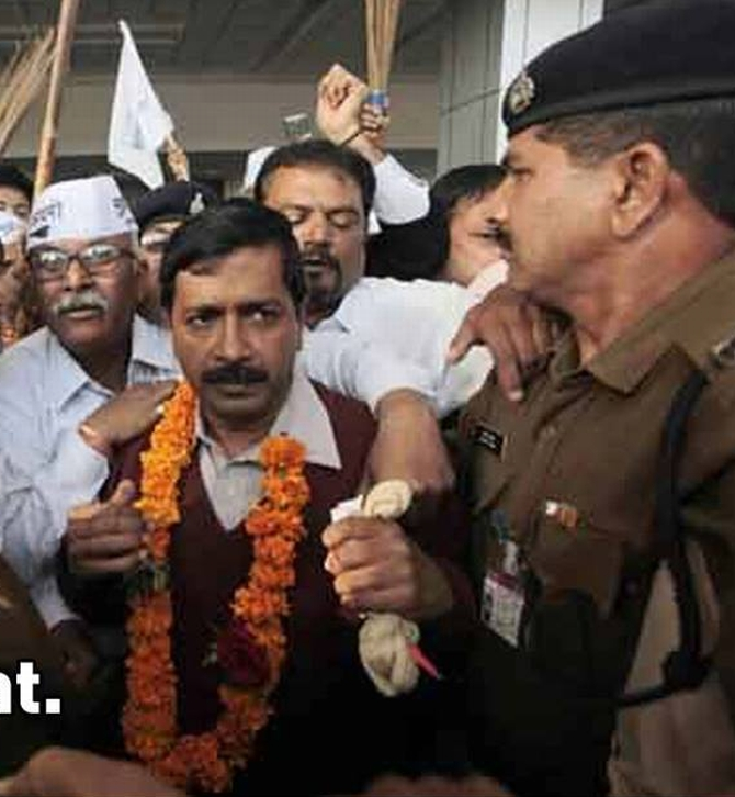 AAP leader Arvind Kejriwal being 'detained' in Gujarat