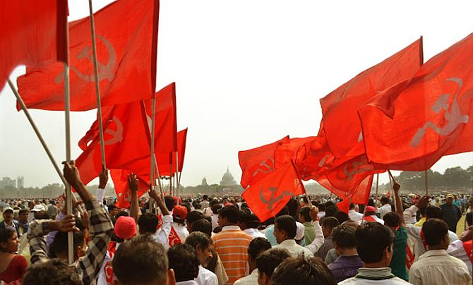 A CPI-M rally in Kolkata.