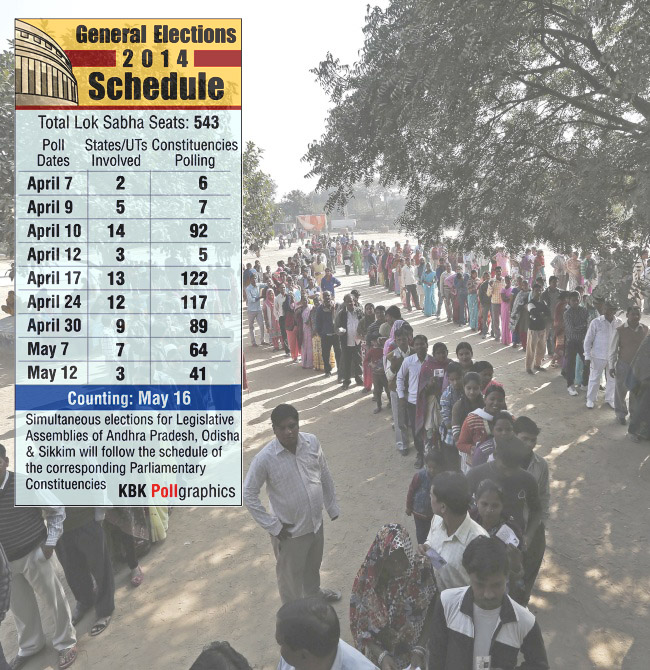 Voters queue inside a polling station to cast their vote during the state assembly election in New Delhi in this photograph taken on December 4, 2013. Graphic courtesy: KBK Graphics