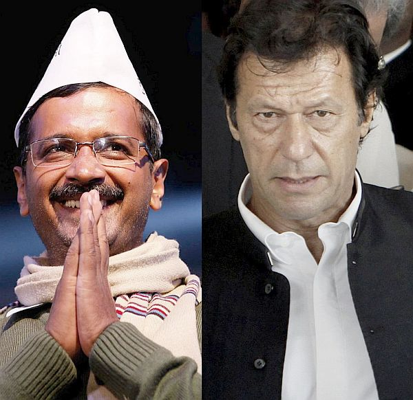 (Left) Arvind Kejriwal; (Right) Imran Khan