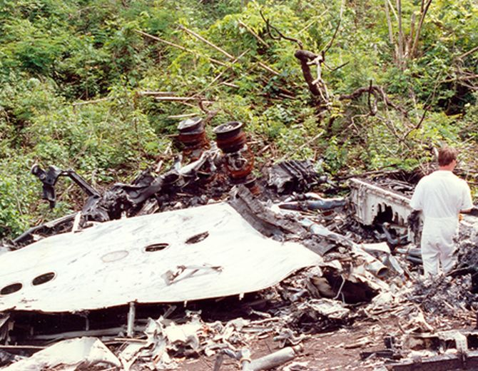 The crash site