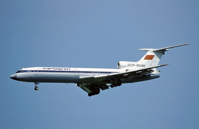 An Aeroflot Tupolev Tu-154B-2 similar to the one involved in the accident