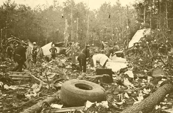 The site of the disaster at the Ermenonville frest near Paris