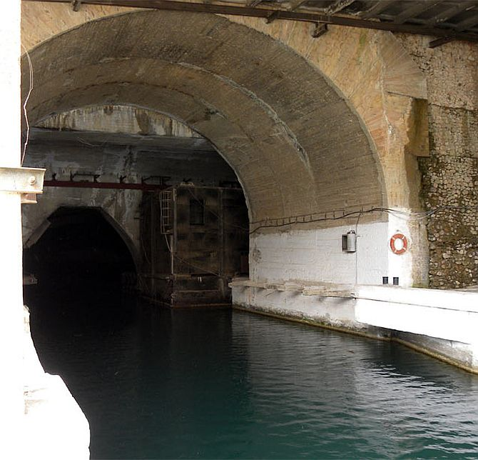 The former Soviet underground submarine base at Balaklava outside the Ukrainian Black Sea port of Sevastopol. These days, it is a popular tourist destination.