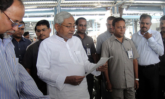 Bihar Chief Minister Nitish Kumar at the Janata Darbar in Patna.