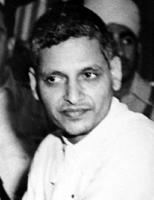 Nathuram Godse during his trial for the assassination of Gandhi.