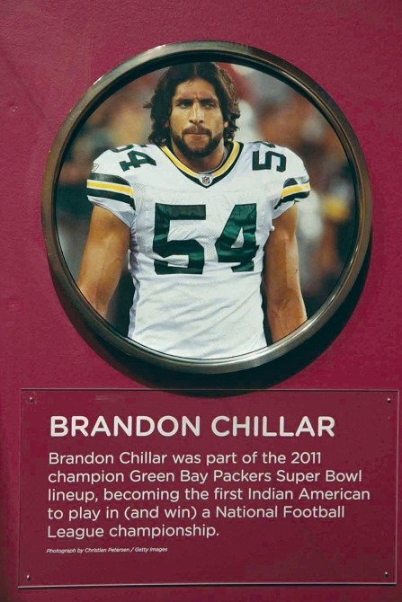 Brandon Chillar, one of two players of Indian-American descent to ever play in the NFL.