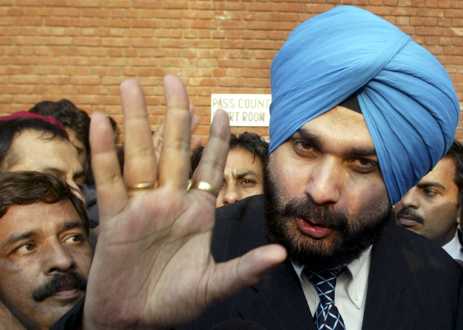 Former Indian cricketer and lawmaker Navjot Singh Sidhu
