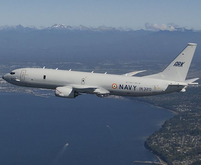 Indian Navy's surveillance aircraft, the P-8I