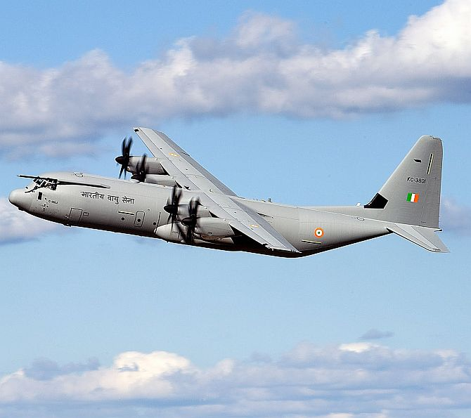 C-130J Super Hercules transport aircraft